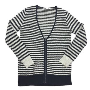 LOFT | Ann Taylor Striped Full Zip Cardigan
